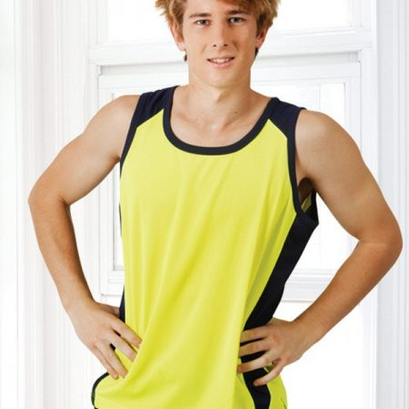 yellow cooldry singlet